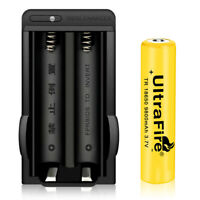 9800mAh 3.7v Rechargeable 18650 Li-ion Battery Dual Smart Charger For Flashlight