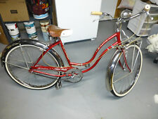 249e68bd395 Rare vintage 1959 Schwinn Fair Lady 3 Speed bicycle - All original Radiant  red!