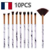 10 Pcs/Set  Brosse Pinceaux De Maquillage Poudre Fard À Paupières Eye-liner Yeux