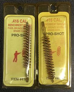 Pro-Shot Benchrest Quality Rfl. Bore Brush 416 Cal  3-PACK 416R New
