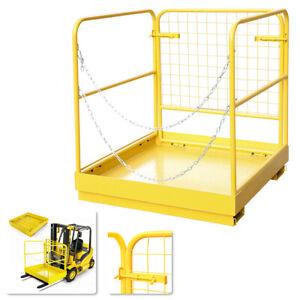 36''×36'' Forklift Safety Built-in Chains Man Cage Basket Working Platform