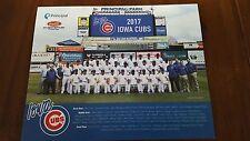 2017 Iowa Cubs Team Photo 8X10 SGA