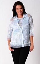 Evening, Occasion 3/4 Sleeve Button Down Shirts for Women