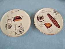 "2 Williams-Sonoma 6 3/4"" Artisanal Cheese/Appetizer Plates Portugal"