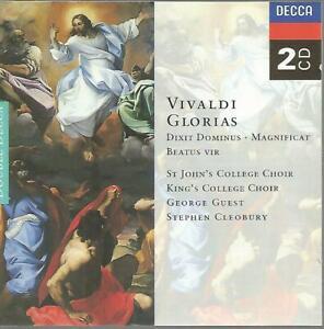 St Johns College / Kings College - Vivaldi: Glorias 2CD Near Mint Dixit Dominus