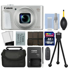 Canon PowerShot SX730 HS 20.3MP Digital Camera 40x Optical Zoom Silver+ 16GB Kit