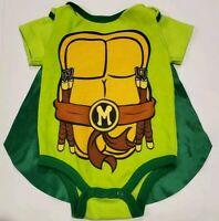 Baby Boy Teenage Mutant Ninja Turtles Long Sleeve Body Suit With Removable Cape