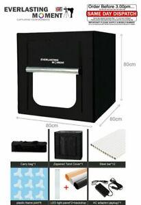 Portable Photo Studio Lighting Mini Box Photography Backdrop LED Light Room Tent