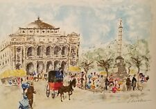 Urbain Huchet,PARIS IN THE 1800 CENTURY,Ltd Ed Lithograph,Signed and Numbered.