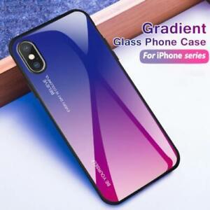 Apple iPhone XS Max XR X 7 8 Plus Tough Glass Hybrid Bumper Back Case Cover