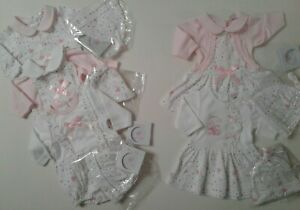 Premature preemie tiny baby girls romper dress outfit 3-5 5-8 lbs