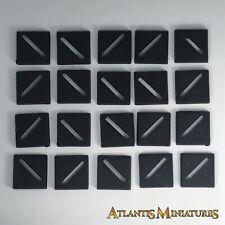 X20 20mm bases slotta-Warhammer/Warhammer 40K/Señor De Los Anillos