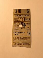 1974 Pittsburgh Pirates Lounge Box Ticket Stub