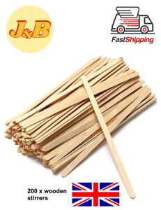 200 x Wooden Stirrers Perfect For Tea & Coffee 7'' Long FREE QUICK DELIVERY UK