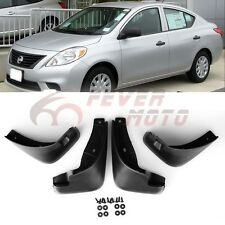 Car Black Mud Flaps Splash Guards Fender Kit Fit Nissan Versa Sedan 2012-2016 FM