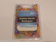 500 Pcs. New Elastic Bands Ooak Hair Redo Friend Bracelets - Bold Multi Color