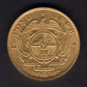 South Africa.  1898 Gold Pond..  Much Lustre..  gEF