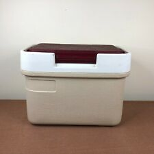 Vintage Thermos Lil Sunpacker Cooler 6.5 qt Model 7710 Burgundy Lunchbox