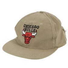 Chicago Bulls Baloncesto oficial NBA Beige gorra de béisbol cierre de gancho y bucle
