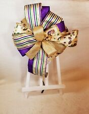 New ListingMardi Gras Purple, Gold and Green Bow