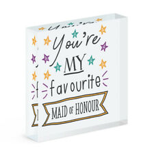 You're My Favourite Maid Of Honour Stars Acrylic Photo Block Frame Wedding