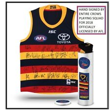 ADELAIDE CROWS SIGNED 2018 JUMPER IN COLLECTORS TIN - EDDIE BETTS, SLOAN, WALKER