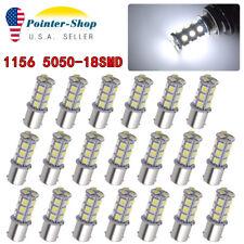 20Pcs DC12V 1156 1003 1141 18 SMD Interior RV Camper White LED Tail Backup Bulb