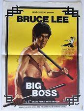 Affiche de cinéma de 1979, BIG BOSS, Bruce Lee, Lo Wei, Karaté Poster 43x57