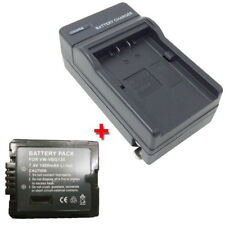 Battery&Charger for PANASONIC SDR-H40 SDR-H40GK SDR-H40P H40PC SDR-H48 VDR-D50PC