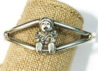 Vintage Carol Felley Sterling Silver Storyteller Mother Child Cuff Bracelet