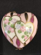 Hand Painted Vintage Limoges Heart Box