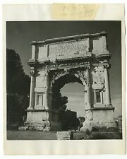 Arch of Titus - Vintage 8x10 Publication Photograph - Rome, Italy