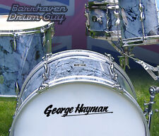 George Hayman, Vintage, Repro Logo - Adhesive Vinyl Decal, for Bass Drum Head