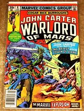 MARVEL #8 JOHN CARTER WARLORD OF MARS MID HIGH GRADE FREE BAGGED AND BOARDED