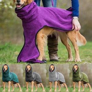Pet Clothes Dog Hoodie Towelling Drying Robe Soft Sleepwear Coat Warmer Apparel,