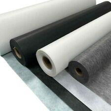 Iron On Fusible Interfacing Lining Fabric (Black/White Medium Weight 99cm Wide)