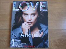 Love Magazine 14 Alicia Vikander,Gisele,Kate Moss,Eva Herzigova,Cher,Alicia,New