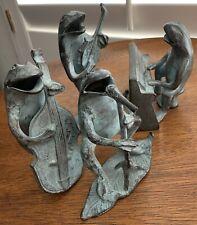 "Brass Frog Band Verdigris 4 1/4""-5 1/2"" Tall, Andrea By Sadek 4 Pc"