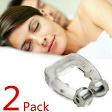 2 Pack Magnetic Anti Snore Free Nose Clip Solution Cure Stop Snoring Sleep Ring