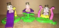 Lot of 3 Filly Pony Accessories Miniature Slide Swing Decoration Toy