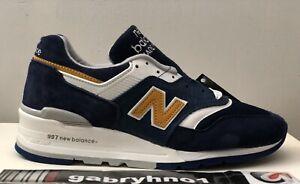 "New Balance 997 ""Navy Mustard"" M997PAN Men's Size 6 Made In USA Running Shoes"