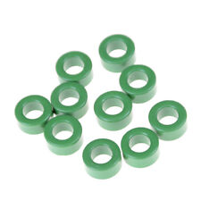 10Pcs Inductors Coils Green Toroids Ferrite Cores Anti-interference 10mm*6mm*5mm