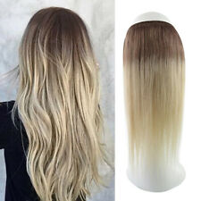 Ombre 16inch Straight Invisible Wire Halo 100% Real Human Hair Extension 60g