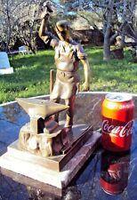 sculpture en bronze forgeron terrasse en marbre fin 19 ème début 20 ème