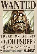 Poster A3 One Piece God Usopp Sogeking Recompensa Se Busca Wanted New Bounty