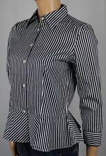Ralph Lauren White Black Stripped Blouse Shirt NWT