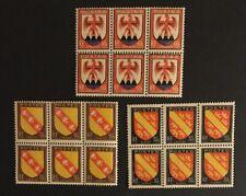 French Croatia Stamps 1946 SG972-4 30-60c  MNHOG A8/98 3 Blocks Of 6
