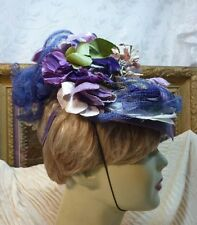 FABULOUS antique SUMMER OUTING HAT 1900-1920's covered in french millinery