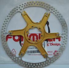 "Formula - One disk rotor 203mm/8"" model 2-piece GOLD spider 6 holes - FD54037-00"