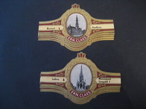Ernest Vitolas Claes. Bruselas. Collection Complete 10 Cigar Bands